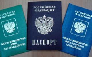 Какой документ удостоверяет личность иностранца: паспорт гражданина или вид на жительство в РФ?